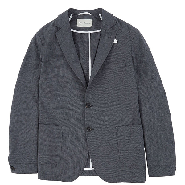 Oliver Spencer Theobald Jacket - Charcoal - Burrows and Hare