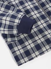 Universal Works Digey Bomber Jacket - Navy Tartan - Burrows and Hare