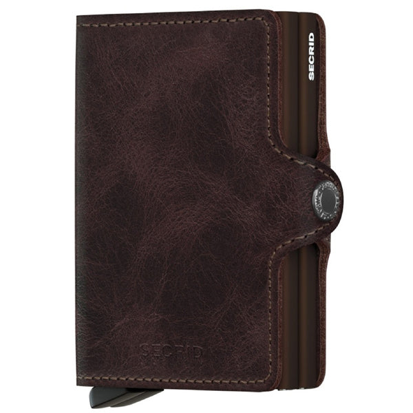 SECRID Vintage Chocolate RFID Twin Wallet