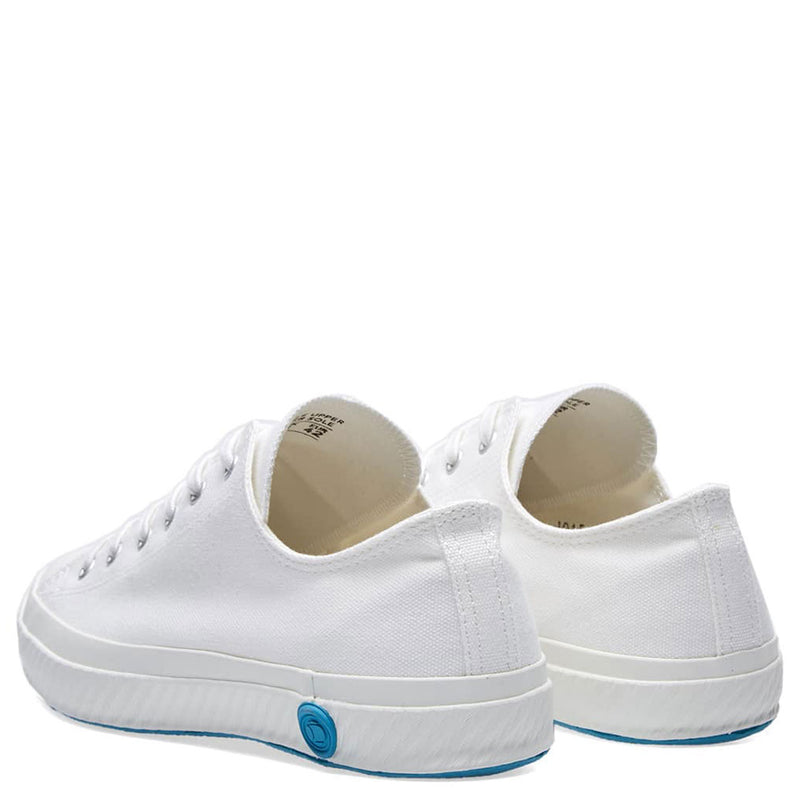 Shoes Like Pottery Handmade Japanese Pure White Low Canvas Trainer - Burrows and Hare