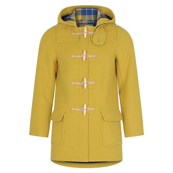 Burrows & Hare Yellow Water Repellent Wool Duffle Coat - Burrows and Hare