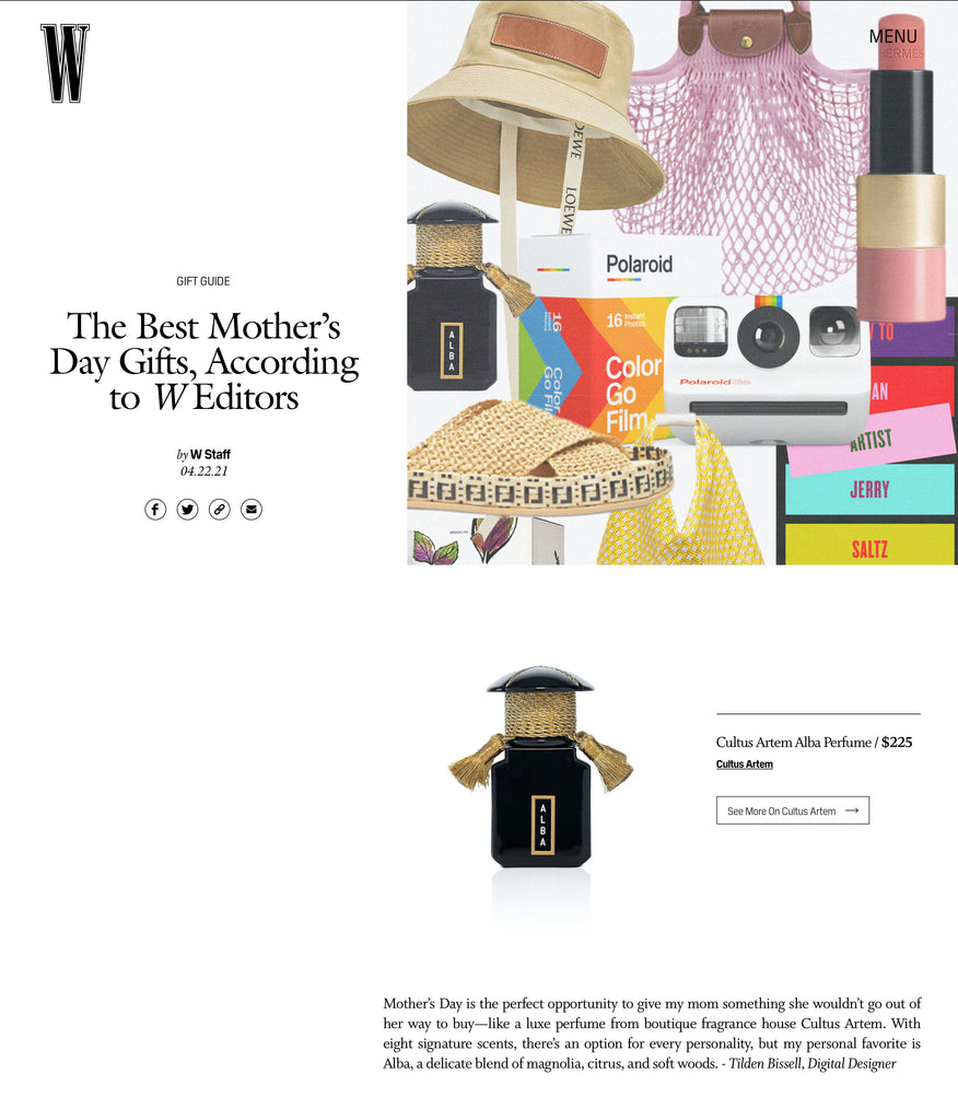 W Magazine – Mother's Day Gift Guide