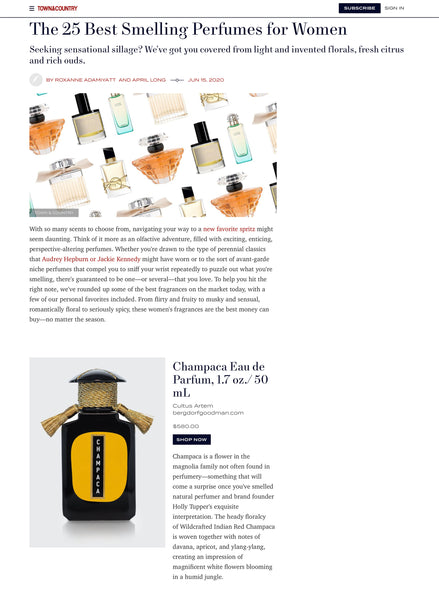 TOWN & COUNTRY – June 2020 – The 25 Best Smelling Perfumes for Women by Roxanne Adamiyatt and April Long