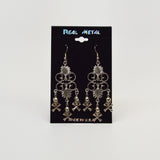 Gothic Skull and Crossbones Chandelier Dangle Earrings #1017