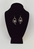 Scorpion Earrings Dangle Silver Finish Pewter #846