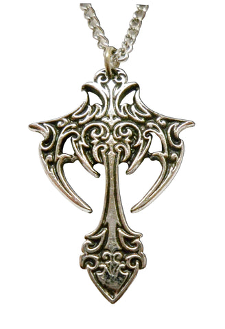 Celtic Tribal Cross Silver Pewter Pendant Necklace NK-294