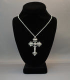 Vampire Stake Cross of Dracula Silver Pewter Pendant Necklace NK-352