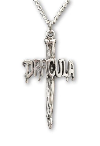 Dracula Vampire Stake Silver Pewter Pendantt Necklace NK-353