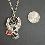 Gothic Dragon with Pentacle Medieval Renaissance Pendant Necklace NK-402
