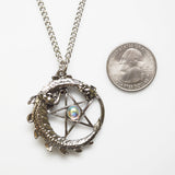 Mystical Dragon Encircling Pentacle Medieval Renaissance Pendant Necklace NK-403