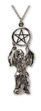 Wizard Offering Pentacle Silver Medieval Renaissance Pendant Necklace NK-413