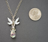 Pixie with Crystal and Sparkling Wings Pendant Necklace NK-471