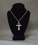 Anhk Cross Polished Silver Pewter Pendant Necklace NK-50