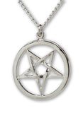 Gothic Inverted Pentacle Medieval Renaissance Pendant Necklace NK-538-I