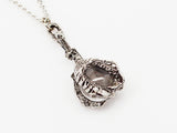 Gothic Dragon Claw Holding Crystal Ball Pendant Necklace NK-552