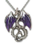 Mystical Purple Dragon Medieval Renaissance Pendant Necklace NK-589P