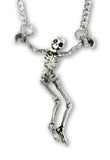 Gothic Dungeon Skeleton in Handcuffs Pewter Pendant Necklace NK-619