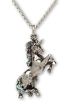 Unicorn Necklace Silver with Glitter Pendant Necklace NK-72GL