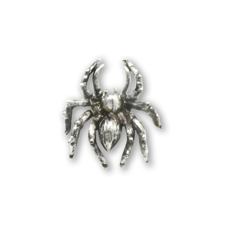 Spider Tie Tack or Jacket and Hat Pin Silver Pewter P-14