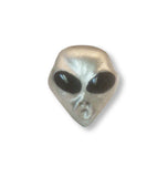 Alien Head Silver Pewter Tie Tack or Jacket/Hat Pin P-24