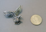 American Eagle in Flight Silver Pewter Jacket or Hat Pin P-40