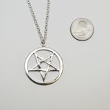 Sterling Silver Pentacle Pentagram Pendant with 20 Inch Necklace