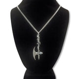Vine Wrapped Executioner's Axe Medieval Renaissance Pendant Necklace NK-10