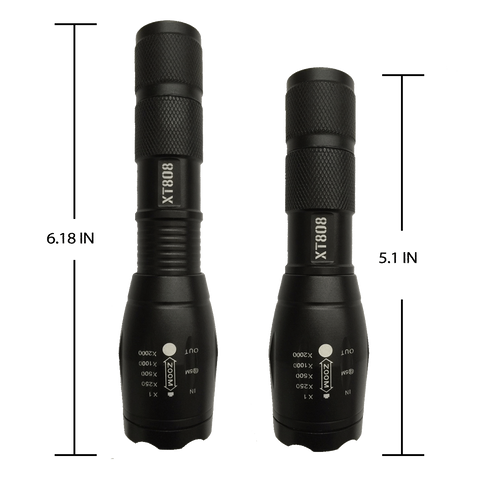 XT808 Tactical LED Flashlight Bundle