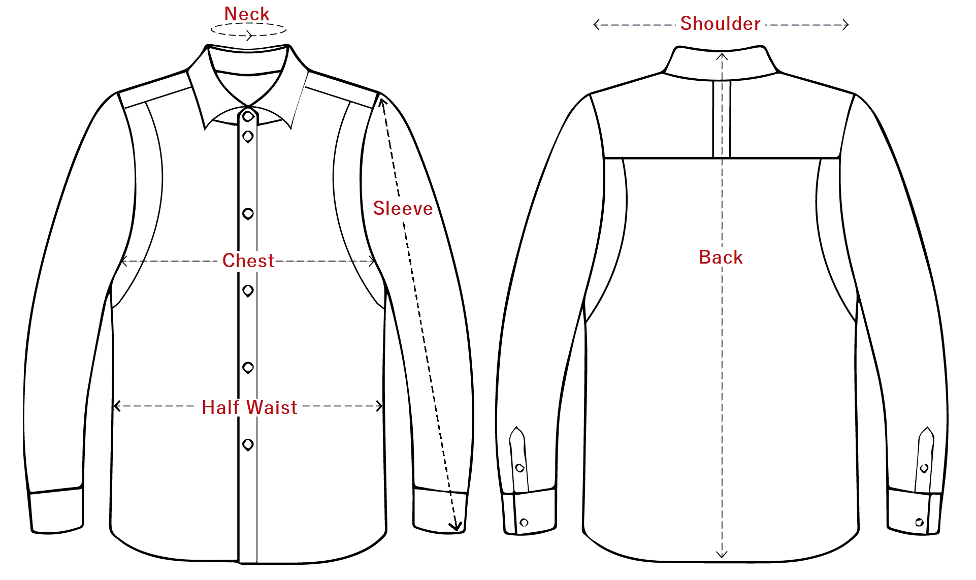 Cyclical Dress Shirt Evergreen Measurement Guide