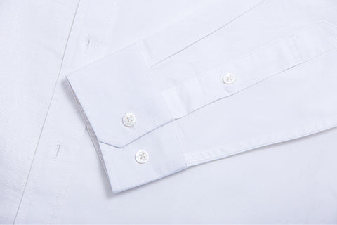 Cyclical Long Sleeves Dress Shirt Cotton Linen Mix with Mother of Pearl Buttons