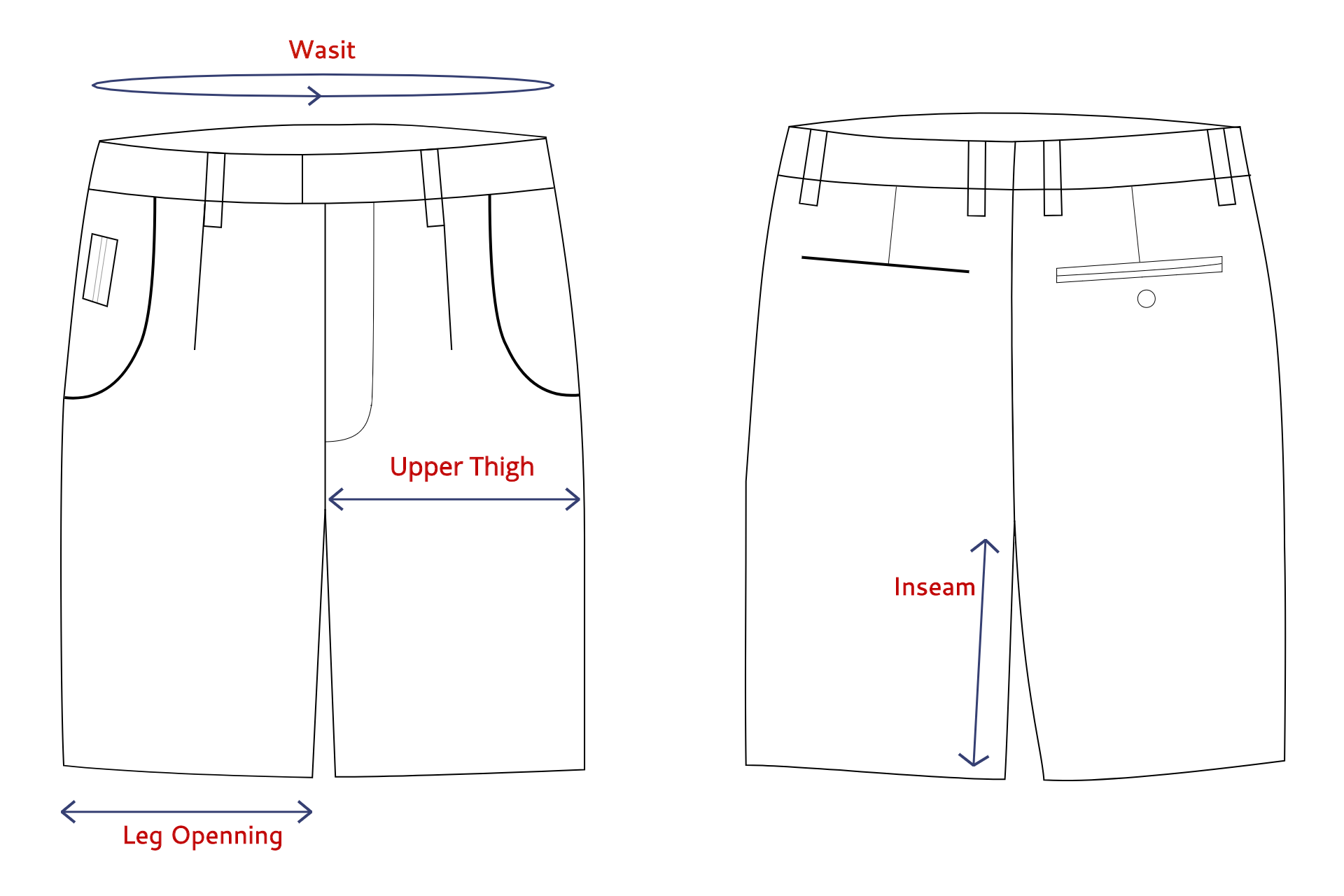 Cyclical Shorts SHORIGIN Measurement Guide