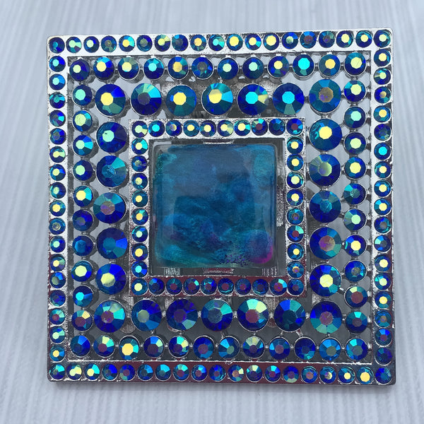 Lake Blue Square Burst Resin - Sinchi®