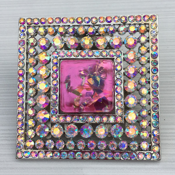 Butterfly Pink Square Burst Resin - Sinchi®