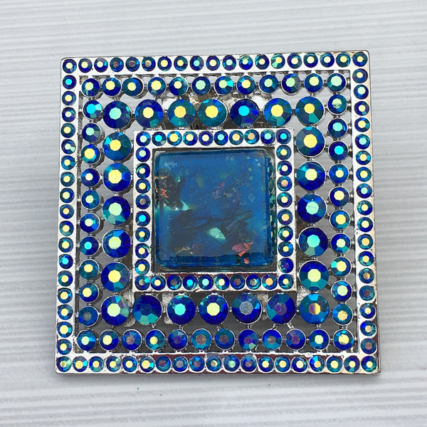 Butterfly Royal Blue Square Burst Resin - Sinchi®