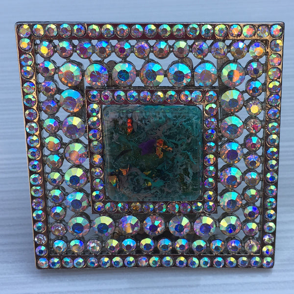 Reef Blue Green Square Burst Resin - Sinchi®