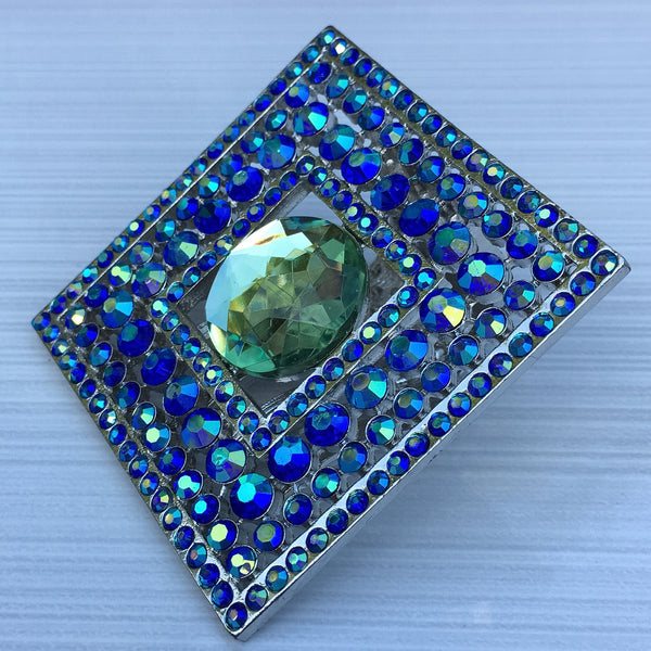 Blue Green Burst Square - Sinchi®
