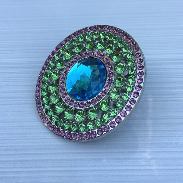 Aqua Green Burst Round - Sinchi®