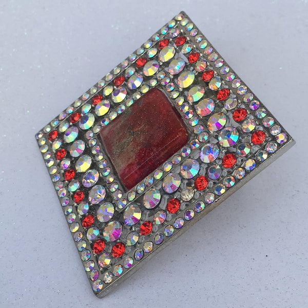 Red Stardust Resin Burst Square - Sinchi®