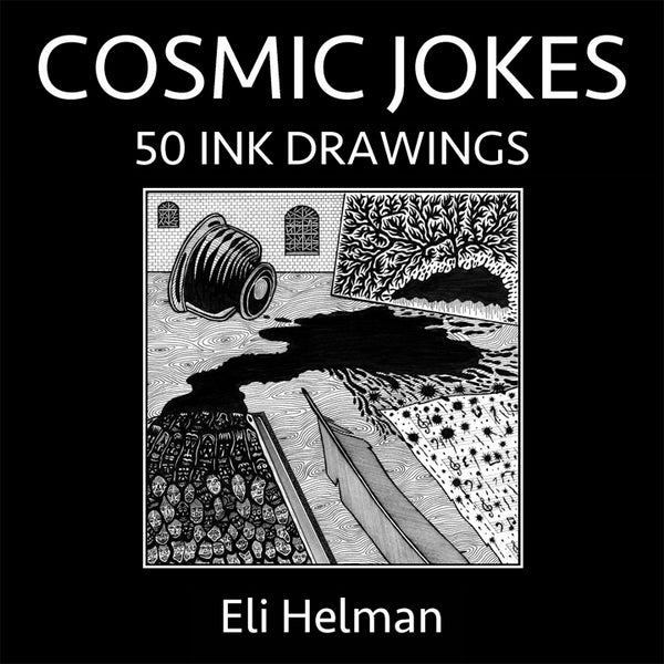 """COSMIC JOKES: 50 Ink Drawings"" Paperback Book"