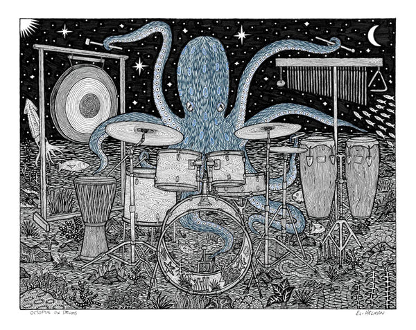 Octopus on Drums