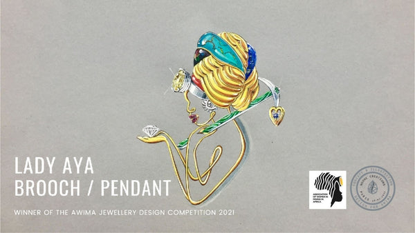 African woman in mining jewellery design competition