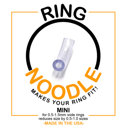 Ring Size Adjuster Ring Guard for 4.0-6.0 mm wide rings. RING NOODLE: Ring Size Reducer Size: Wide