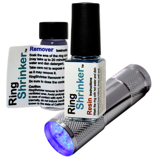 RingShrinker - Ring Guard / Ring Size Reducer with UV Flashlight
