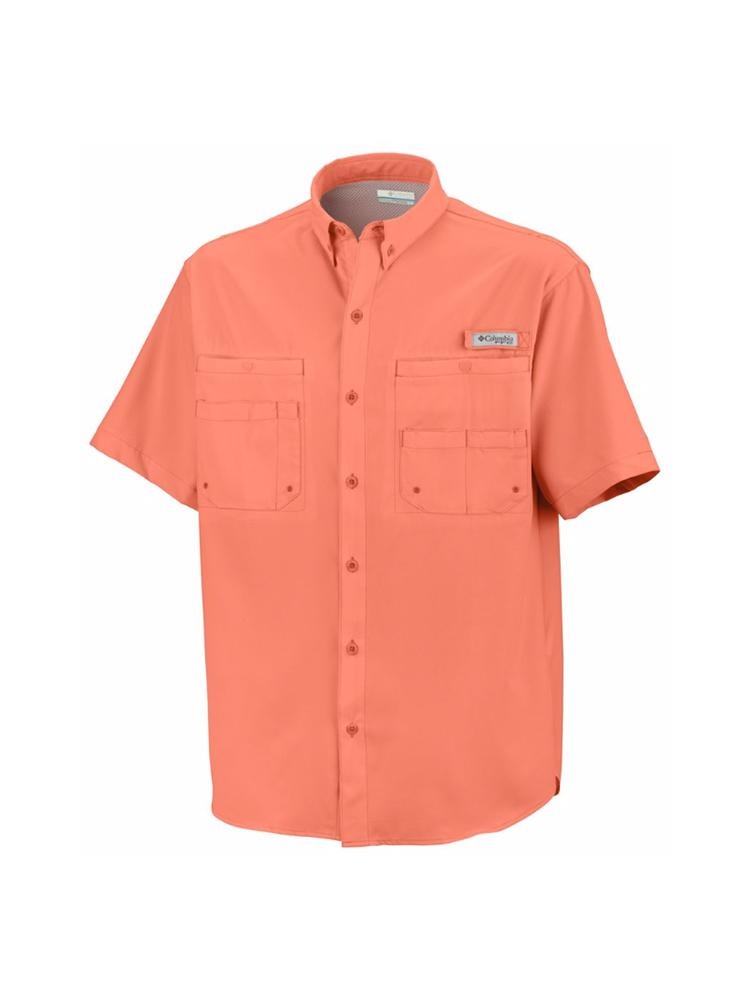 Columbia Mens Slack Tide Camp Shirt Island Orange Small