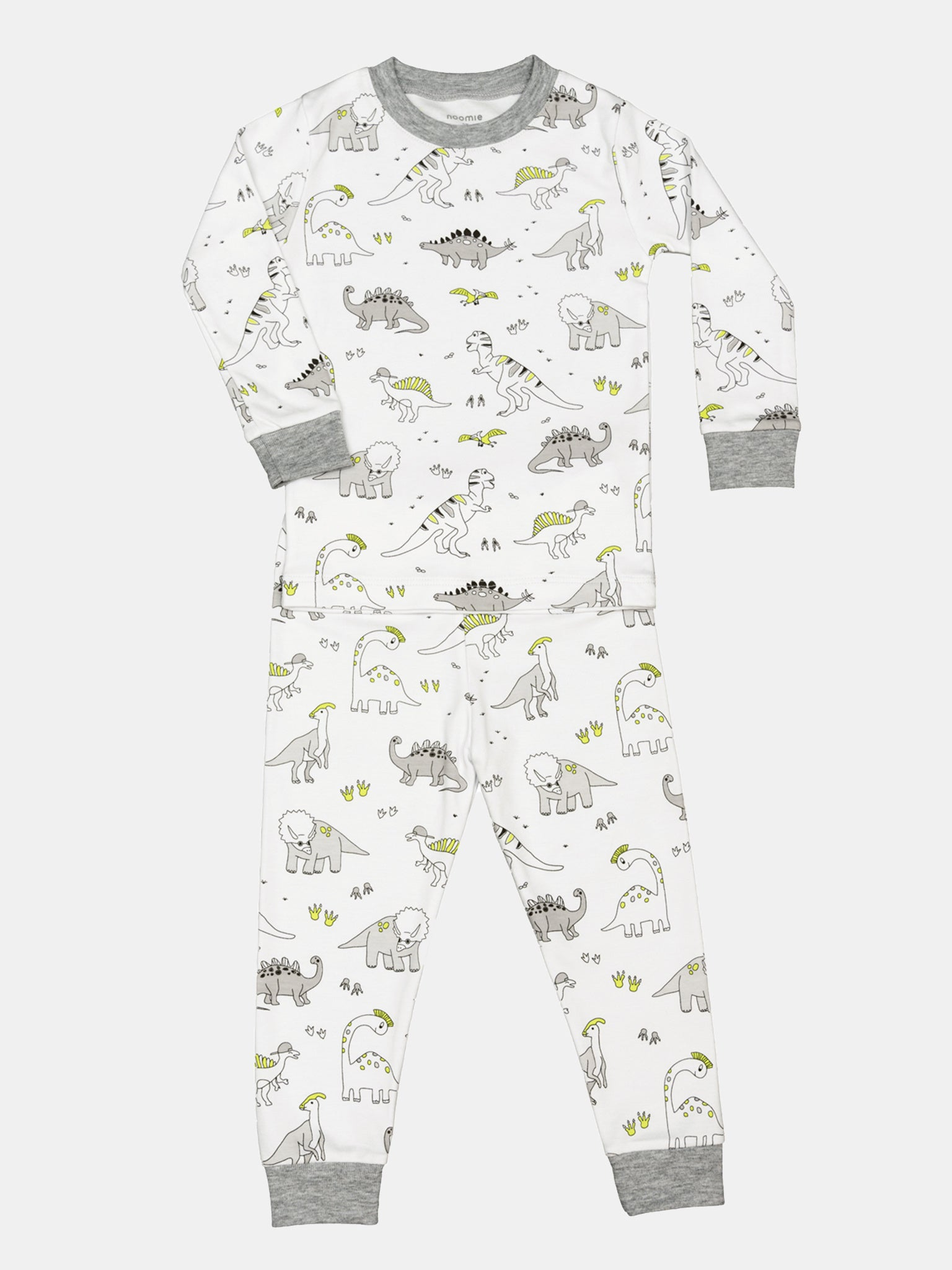 Baby Noomie Boys' Two-Piece Dino Pajama Set