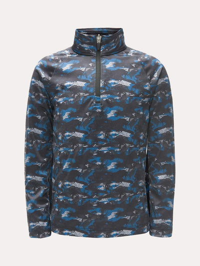 Spyder Little Boys' Limitless Bug Camo Zip T-Neck