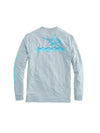 Vineyard Vines Men's Long Sleeve Performance Heather Soaring Marlin Tee