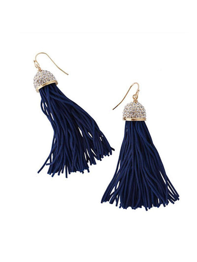 Lilly Pulitzer Women's Midnight Tassel Earrings