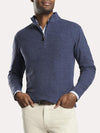 Peter Millar Men's Tri-Blend Melange Fleece Quarter-Zip Sweater