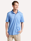 Peter Milar Men's Aqua Cotton Scout Polo